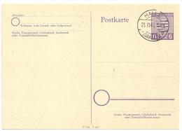 Deutschland Alliierte Sowjetische Zone SBZ Ganzsache Mi GS P10 P 10 Stempel Halle 21.11.45 6 Pfennig Provinz Sachsen - American,British And Russian Zone