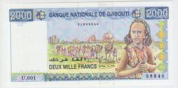 Djbouti 2000 Francs (1997) Pick 40 UNC - Djibouti