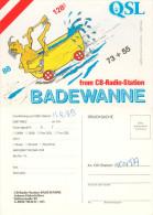 QSL-Karte 4050 Traun CB-Station Badewanne Stifterstraße Bath Tube Baignoire 1979 Österreich Austria Card Carte Funkkarte - QSL-Karten