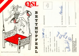 QSL-Karte 4050 Traun CB-Station Betthupferl Untere Dorfstraße 1979 Österreich Austria Autriche Card Carte Amateurfunk - QSL-Karten