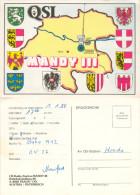 QSL-Karte 4050 Traun CB-Station Mandy III Bahnhofsiedlung Card Carte Cartolina Funkkarte Landkarte Map Oberösterreich - QSL-Karten