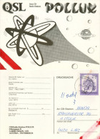 QSL-Karte 4050 Traun CB-Station POLLUX Liliengasse Planet Planeten 1979 Austria Österreich Autriche Card Carte Cartolina - QSL-Karten