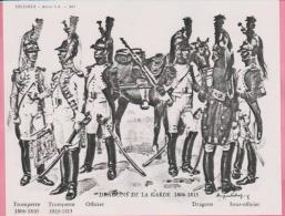 Historex - TENUES - Documentation - Dragons De La Garde  (1806-1815)  N° 9 - Divise