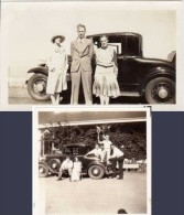 2 Photos Automobile Ford ? Road To Santa Cruz, 1931 - Automobiles