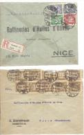 ALLEMAGNE -==- 2 Enveloppes  Commerciales à Destination De NICE  ( France ) - Deutschland