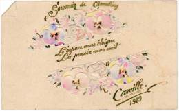 Carte Mignonette, Ajoutis, Dessinée Main, Souvenir De Chambéry, Camille 1919 ( CHr ) - Chromos