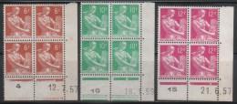 N° 1115/1115A/1116  Neuf ** Gomme D´Origine, Bloc De 4 Avec Coin Daté  TB - Angoli Datati