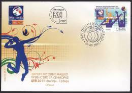 SERBIA FDC European Championship Volleyball Women 2011 - Volleyball