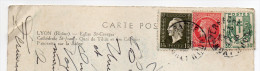 1946--Composition De Tps Chaines Brisées,marianne Dulac.... Sur Carte Postale Lyon-cachet Lyon Perrache - France
