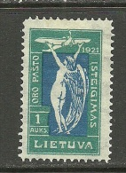 LITAUEN Lithuania Litva 1921 Flugpostdienst Michel 113 * - Litauen