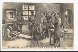 CPA Militaria 1870 : Kronprinz Friedrich An Der Leiche Des General Abel DOUAY Bei Weissenburg - Otras Guerras
