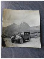 AUTOMOBILE RENAULT 10 CV ESPAGNE, Vers Montoyo ?, 1933 , Photo 9X9,  ; Ref 826 PH03 - Cars