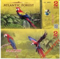 ATLANTIC FOREST 2 AVES DOLLARS 2015 UNC - Bankbiljetten