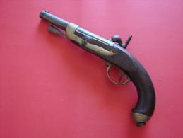 PISTOLET PERCUSSION  REGLEMENTAIRE   1822 T BIS -MUTZIG - Armes Neutralisées