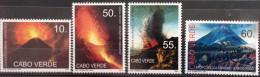 Cabo Verde 2007 - Erupçoes Vulcanicas Da Ilha Do Fogo Vulkan Volcano Vulcan Volcans 4 Val. MNH - Isola Di Capo Verde