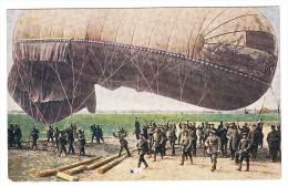 AK Feldpostkarte  Vor Dem Aufstieg Des Fesselballons #127 Ungebraucht Originale Fotoaufnahme - Montgolfières