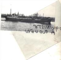 """photo  navire identifi� """" HERMES I """" BLAUWEISS REEDEREI 1952 ARHNEM NEDERLANDS ALLEMAGNE TRANSPORT MARITIME MER"""