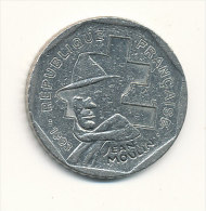 2 F commemoratives - Jean Moulin -