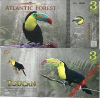 ATLANTIC FOREST 3 AVES DOLLARS 2015 UNC - Bankbiljetten
