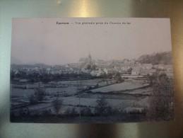 Carte Postale Epernon Vue Générale Prise Du Chemin De Fer Oblitérée Timbre 10 Centimes 1906 - Epernon