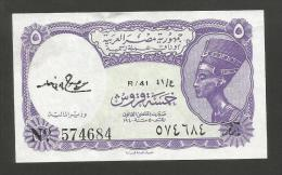 EGYPT - The ARAB REPUBLIC Of EGYPT CURRENCY NOTE - 5 Piastres - Egypte