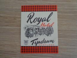 ETIQUETTE HOTEL ROYAL HOTEL TYNDRUM SCOTLAND - Etiquettes D'hotels