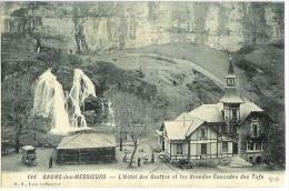 Cp Souple BAUME LES MESSIEURS Hôtel Des Grottes Et Grandes Cascades Des Tufs 144 Jura Cpa - Baume-les-Messieurs