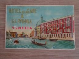 ETIQUETTE HOTEL  HOTEL DE LA GARE & GERMANIA VENEZIA - Etiquettes D'hotels