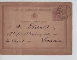 Entier CP 9 C.Gembloux En 1879 V.Louvain C.d'arrivée Au Verso 180 - Ganzsachen