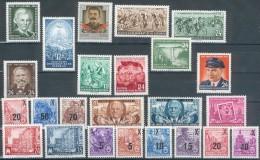 DDR, Jahrgang 1954 Postfrisch Ohne Block 10, Pracht - DDR