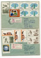 POLEN / 1983 / 2 Reco-Bfe. Nach Deutschland / € 0.90 (0248-20) - 1944-.... Republik