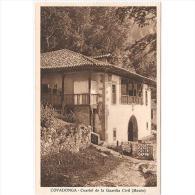 ASTRATP2857-LFTD5973.Tarjeta Postal DE ASTURIAS.Arboles,edificio .CUARTEL DE LA GUARDIA CIVIL EN COVADONGA - Asturias (Oviedo)