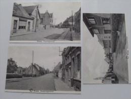 WATOU Ronsbrugge, Steenvoorde en Poperingestraat ( Bijgesneden (?) 3 stuks ) Anno 19?? ( zie foto�s voor details ) !!