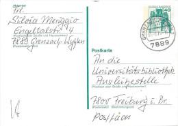 Germany (BRD) 1977 Postkarte (o)  Mi.P121  (Grenzach, Wyhlen-Freiburg I. Br. 31.8.78) - Cartoline - Usati