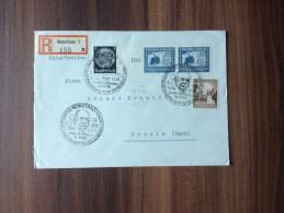 Einschreiben  ***  Drittes Reich   1938  Sonderstempel : Zeppelin  Ausstellung   *** - Covers & Documents
