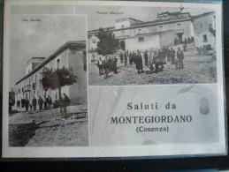 Montegiordano Cosenza Saluti 2 Vedute - Usata 1953 F:G: - Altre Città