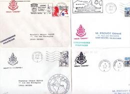 Frégate Anti Aérienne CASSARD : 11 Plis Cachets Bâtiment Et Missions Diverses - Marcophilie (Lettres)