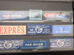 FRANCE - Lot De 9 étiquettes Par Avion Et Exprès - à Voir - Lot P8279 - Andere