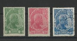 LIECHTENSTEIN - YVERT N° 1/2 * + 3 OBLITERE - COTE = 200 EUROS - CHARNIERE - Liechtenstein