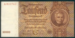 Deutschland, Germany - 1000 Reichsmark, Ro. 177 A , ( Serie G/A ) 1944 - 1948, Very Rare ! - 1.000 Reichsmark