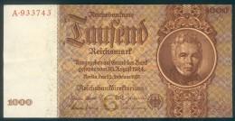Deutschland, Germany - 1000 Reichsmark, Ro. 177 A , ( Serie G/A ) 1944 - 1948, Very Rare ! - 1933-1945: Drittes Reich