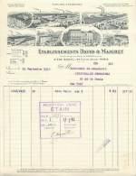 FACTURE LETTRE : PARIS . ETABLISSEMENTS DAVID ET MAIGRET . 1932 . - Francia