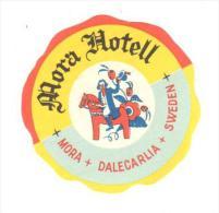 ETIQUETA DE HOTEL  -MORA HOTELL  -SWEDEN - Hotelaufkleber