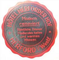 - H�TEL HERFORDER HOF - HERFORD i/ WESTF -