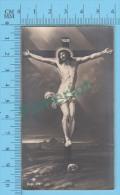 NB-372 (Le Christ En Croix & Crane D'Adam )  Image Pieuse Santini Holycard 2 Scans - Images Religieuses