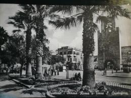 Oristano Piazza Roma Usata 1961- Lievi Difetti Taglietti Laterali - Andere Steden