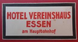 - HOTEL   VEREINSHAUS ESSEN - AM HAUPTBAHNHOF -