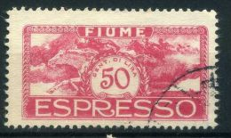 ITALIE  FIUME  (  EXPRES ) :  Y&T N°  2   TIMBRE  AVEC  BELLE  OBLITERATION  ,  A   VOIR . - 8. WW I Occupation