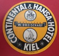 CONTINENTAL & HANSA = HOTEL - KIEL -