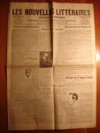 LES NOUVELLES LITTERAIRES 20 OCTOBRE 1923 - RIMBAUD ABEL HERMANT MAURICE MARTIN DU GARD RAYMOND ESCHOLIER ANDRE DERAIN - Journaux - Quotidiens
